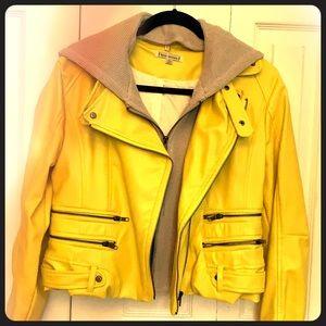 Leather yellow jacket